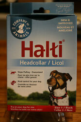 Halti Dog Headcollar  Licol Stops Pulling Kindly - Size 1 Black New Improved $19.96