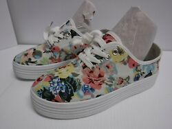 RASOLLI WOMEN'S SHOES SIZE 7.5 FLORAL W WHITE LACES - USED VERY GOOD COND ..S3 $6.25