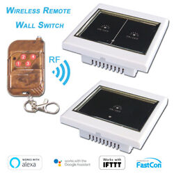 RFWiFi Wireless Light Switch Touch Panel For Amazon Alexa Google Smart Home