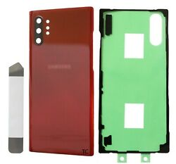 Replacement Glass Back Cover for Samsung Galaxy Note 10 Plus Red Repair Kit $9.75