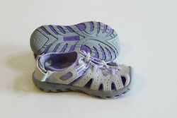Khombu Girl Active Sport Sandals Size 2 Gray Lavender Purple Girl Shoes $21.99