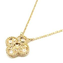 Van Cleef & Arpels Vintage Alhambra diamond necklace pendant 18KYG Yellow Gold