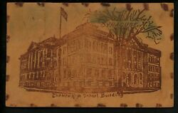 Leather postcard Novelty High School Building Syracuse New York NY $10.99