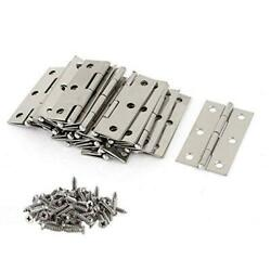 20 PCS Folding Butt Hinges Silver Tone Home Furniture Hardware Door With 120  $17.49