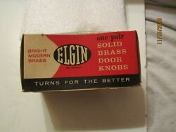 Vintage Elgin 2quot; Brass Door Knob Box Empty No 5783 $3.99