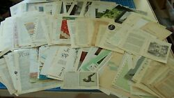 BOOK PAGES Antique paper old Vintage Ephemera for Journal 85 pgs ALL DIFFERENT $11.99