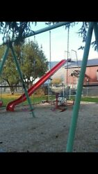 22ft Fiberglass Playground Slide sites 11 ft high