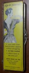 Vintage Zip-It-Yourself - Open & Close Hard-to-Reach Zippers - David Traum Co. $3.25