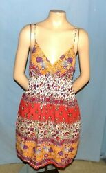 Awesome & Chic Multicolor Print Sun Dress Size Large (Est 1314)  Cruise or Club