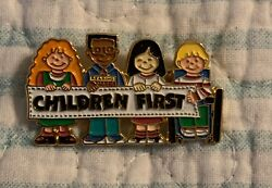 Vintage Collectible Pin: Children First Multi Cultural Many Ethnicities $9.00
