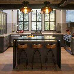Metal Orb Chandelier Lamp Globe Cage Ceiling Pendant Light Round Hanging Fixture $54.08