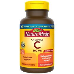 Nature Made Vitamin C 500mg Immune Support Health 70 Tablets CHEWABLE $6.94