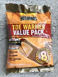 New Hothands  Hot Hands Toe Warmer Value Pack 7 Pairs of Warmers EXP 072022 $4.99
