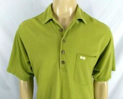 TOMMY BAHAMA Casual Pique Polo Shirt Cotton SS Men's M SS Beach RELAX Pea Green $18.71