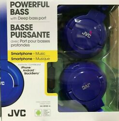 JVC HA SR185 Wired Foldable Headphones with Mic Blue $29.95