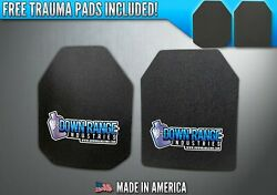 AR500 Level III 3 Body Armor Plates Pair- Multi-Curved 10x12 SwimmerSAPI $119.95