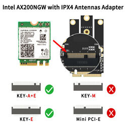 WiFi 6 Intel AX200NGW PCI Card with Adapter PCI E Laptops for PCI E laptops Card $21.84