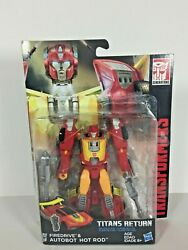 Transformers Titans Return Deluxe Class Firedrive & Autobot Hot Rod $29.99