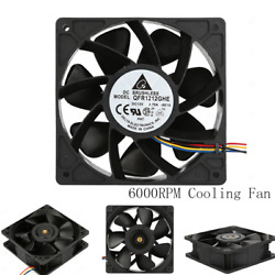 6000RPM Cooling Fan Replacement 4-Pin Connector For Antminer Bitmain S7 S9 Fast $13.99