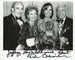 Ed Asner Mary Tyler Moore Show Original Autographed 4x6 in. Paper as pictured $43.99