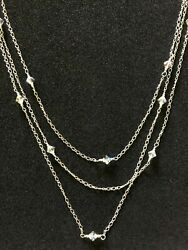 Genuine 925 Sterling Silver Necklace Made With Swarovski Parts Hallmarked Boxed GBP 24.00