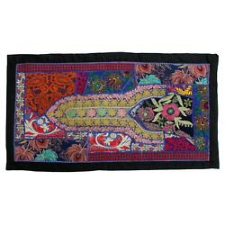 Vintage Embroidered Patchwork Indian Boho Bedroom Bohemian Tapestry Wall Hanging $15.99