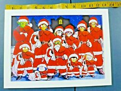Dragon Ball z Xmas party 14quot; poster w frame $30.00