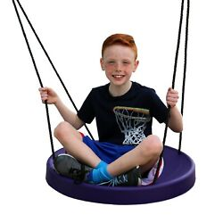 Youth Kids Swing Outdoor Indoor Flying Disc Heavy Duty Secure Tree Seat Saucer $91.99