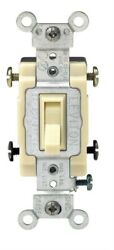 Leviton Commercial 15 amps Toggle Switch Ivory 1 pk