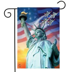 Liberty For All Jets Air Force Garden Flag 12.5