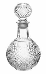 Vintage Crystal Clear Glass Scotch Whisky Decanter with Ball Stopper 32 oz $14.95