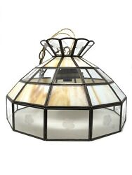 Tiffany Style Hanging Pendant Light Brass Stained Shade Glass Fixture $69.99