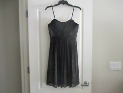 NWT Prom Formal Strapless Dress All Black Mesh with Champagne Lining Underneath $24.99