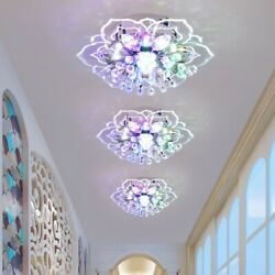 20cm 9W Modern Crystal LED Ceiling Light Fixture Hallway Pendant Lamp Chandelier