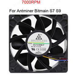 2PCS 7500RPM Cooling Fan Replacement 4-pin Connector For Antminer Bitmain S7 S9 $19.99