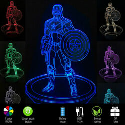 3D LED Table Kid Night Light Lamp 7 Color with USB Bedroom Gift for Boy or Child $10.99