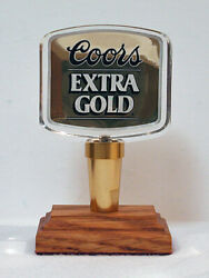 Coors Extra GoldTap Handle Display Base Included Very Near Mint Condition $11.95