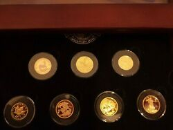 Magnificent 7 Gold Coins 1 4 oz Libertad Panda Eagle Maple Krugerrand etc $4999.99