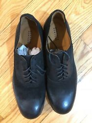 Barneys New York Waxed Leather Bluchers Oxford Shoes Size US 10M Made In Italy $74.99