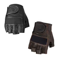 2021 Highway 21 Jab Half Perforated Leather Motorcycle Gloves $29.95
