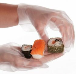 Sushi Non Stick Food Disposable Gloves Small Size 100 PCS Box $12.50