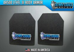 AR500 Level III 3 Body Armor Plates Pair - Curved 11x14 $139.95