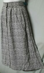 Simply Styled Black White Skirt Knee A Line Large 32quot; WAIST $25.99