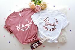 Bride and Bridesmaid Shirt Bridal Party Shirts Bridemaids Shirts