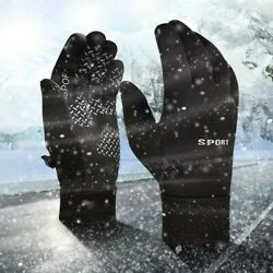 Mens Winter Warm Gloves Waterproof Gloves Winter Gloves Touchscreen Outdoor Acti $11.60