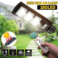 220000LM Commercial Solar Street Light LED Outdoor IP67 Dusk to Dawn Road Lamp