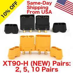 Lot of Amass XT90H Connector Male Female w Protective Cover RC Battery $15.95