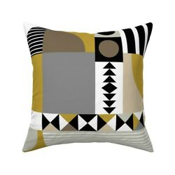 Mid Century Modern Black White Throw Pillow Cover w Optional Insert by Roostery $52.00