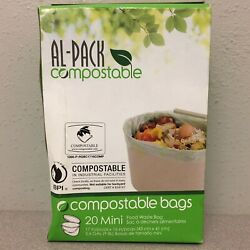 Al Pack P RGBC1716COMP Compostable Kitchen Food Waste 20 2.6 gal. Compost Bags $7.98