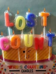 """LOST COUNT"" Funny Message Novelty Birthday Party Candles $4.97"
